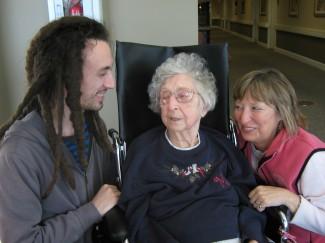 Me, Grandma, and Mom