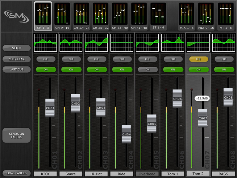 Yamaha M7CL StageMix iPad App