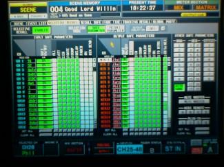 Selective Recall Page on Yamaha PM5D